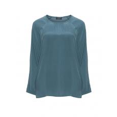 Glänzende Webstoff-Bluse