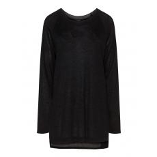 Glänzender High-Low-Pullover
