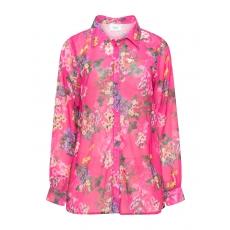 Hemdbluse mit floralem Print