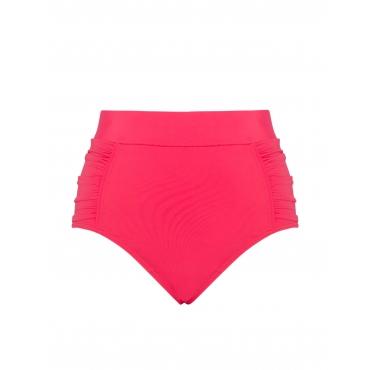 High-Waist Bikini-Hose mit Raffungen