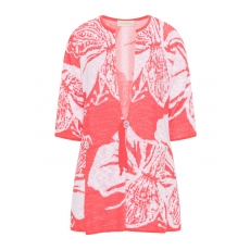 Jacquard-Cardigan mit floralem Muster