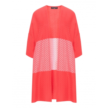 Jacquard-Kimonojacke mit Strukturmuster