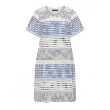 Jacquard-Kleid mit kurzen Ärmeln