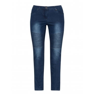 Jeans im Washed-Out-Look mit Steppung