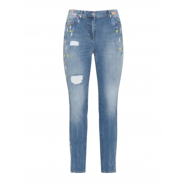 Jeans Modell Betty mit Farbklecksen