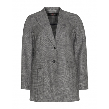 Jersey-Blazer mit Glenchneck-Muster