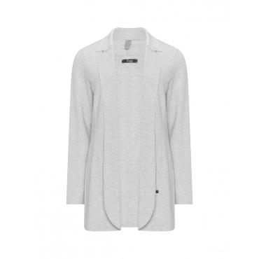 Jersey-Blazer mit offenen Kanten