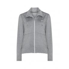 Jersey-Jacke mit Stehkragen