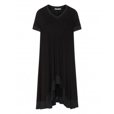 Jersey-Kleid mit Mesh-Details