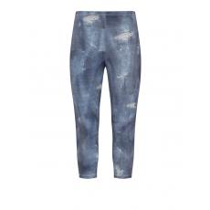 Jersey-Leggings im Used-Denim-Look