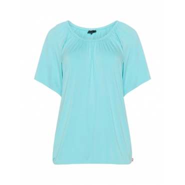 Jersey-Longshirt mit Bündchen