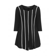 Jersey-Longshirt mit Kontraststreifen