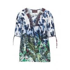 Jersey-Shirt mit Dschungel-Print