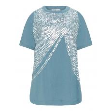 Jersey-Shirt mit Pailletten