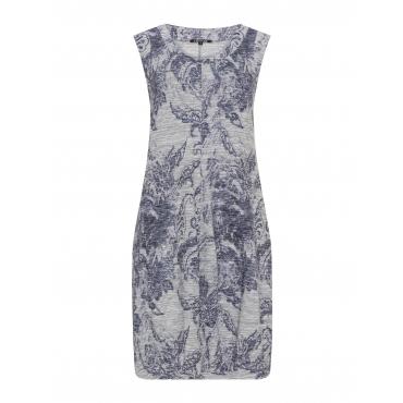 Jersey-Sommerkleid mit Print-Mix