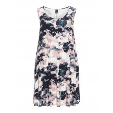 Jerseykleid mit Blumen-Print