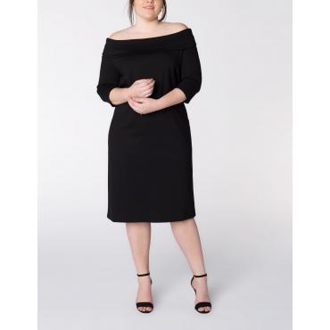 Jerseykleid mit Carmenausschnitt