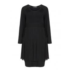 Jerseykleid mit Chiffon-Plisseerock