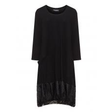 Jerseykleid mit Tüllsaum und Tasche