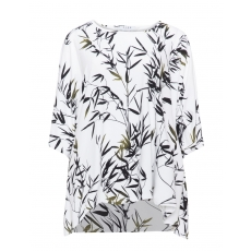 Jerseyshirt mit Blätter-Print