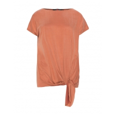 Jerseyshirt mit drapiertem Knoten