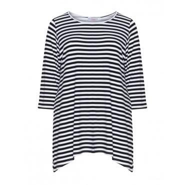 Jerseyshirt mit längeren Seitenpartien
