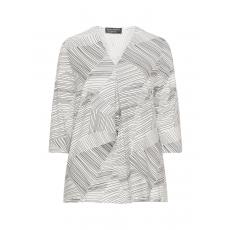 Jerseyshirt mit Streifen und Falte