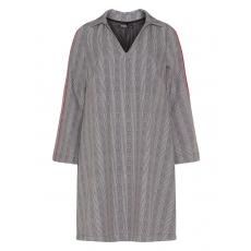 Kariertes Kleid mit Kontrastkanten