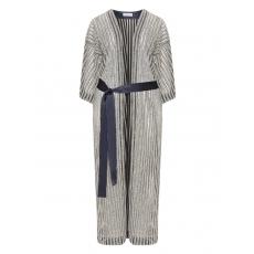 Kimono mit Glitzer im Streifen-Design