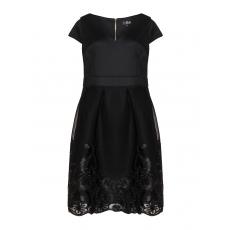 Kleid mit Bändchenstickerei