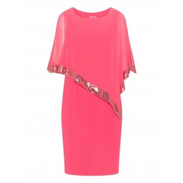 Kleid mit Chiffon-Überwurf