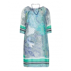 Kleid mit Paisley-Muster und Kette