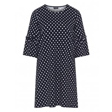Kleid mit Polka Dots und Ärmelvolants