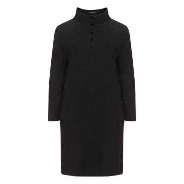 Kleid mit Taschen aus Baumwoll-Hanf-Mix