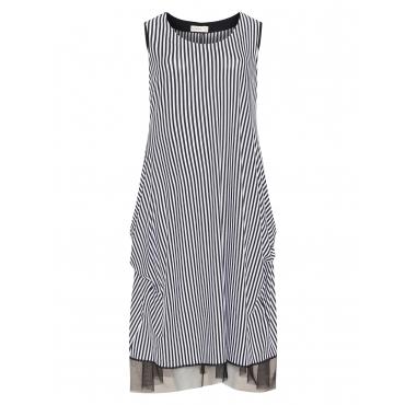 Kleid mit Tüllsaum