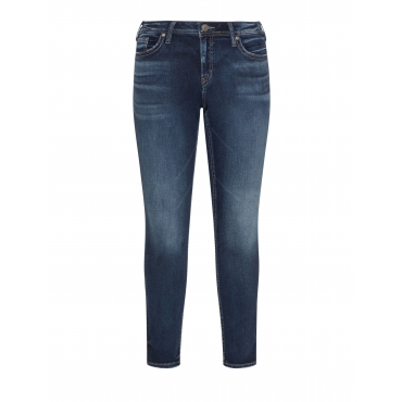Knöchellange Jeans im Washed-Out-Look