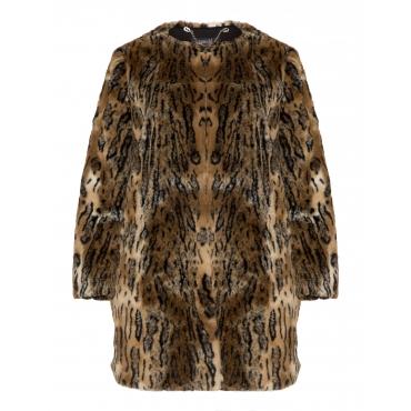 Kurzmantel mit Leoparden-Muster