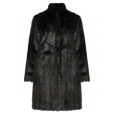 Längs strukturierte Fake Fur-Jacke