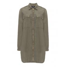Lange Jacke im Military-Look