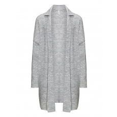 Langer Feinstrick-Cardigan aus Wolle