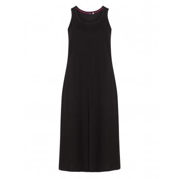 Langes Jerseykleid aus Baumwolle