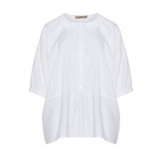 Leinen-Baumwoll-Bluse mit Bubikragen