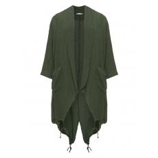 Leinenmix-Jacke im Knitter-Look