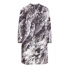Longbluse mit Allover-Muster