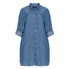 Lyocell-Longbluse im Denim-Look