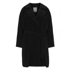Mantel aus Crêpe-Georgette