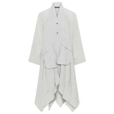 Mantel im Knitter-Look