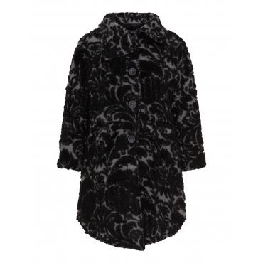 Mantel mit Flockdruck