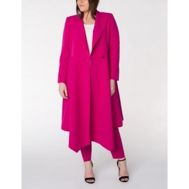 Mantel mit High-Low-Saum