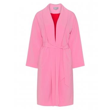 Mantel mit Schalkragen und Bindegürtel